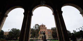 More Chinese students have been convicted for cheating their way into US Colleges. File photo shows Royce Hall on the campus of UCLA in Los Angeles. (Kevork Djansezian/Getty Images)