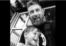 Richard Pringle with his beautiful son Hughie. (Richard Pringle/Facebook)