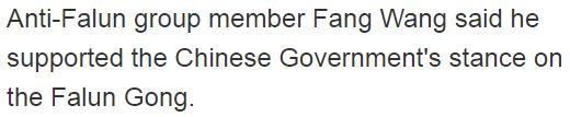 Anti-Falun Gong group supported stance of the Chinese Government. (source: Stuff)