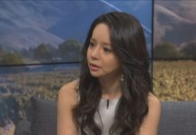 Last week, former Miss World Canada and actress Anastasia Lin arrived in Auckland, New Zealand to advocate for human rights issues in China. (Source: TVNZ)