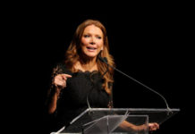 Fox Business host Trish Regan will debate Chinese state media host Liu Xin on May 29, 2019. (Craig Barritt/Getty Images for Jefferson Awards Foundation)