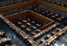 People study at a national library in Beijing on May 30, 2013. (Wang Zhao/AFP/Getty Images)