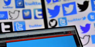 Logos of U.S. online news and social networking service Twitter displayed on computers' screens on Nov. 20, 2017. (Loic Venance/AFP/Getty Images)