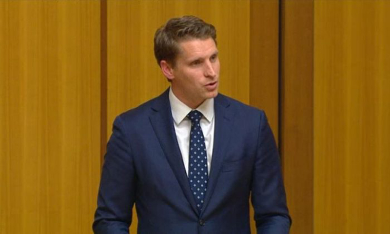 Andrew Hastie, Liberal MP, speaks at Australian Parliament in May 2018. (Commonwealth of Australia)